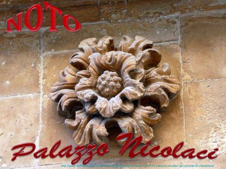 Palazzo Nicolaci dei principi di Villadorata