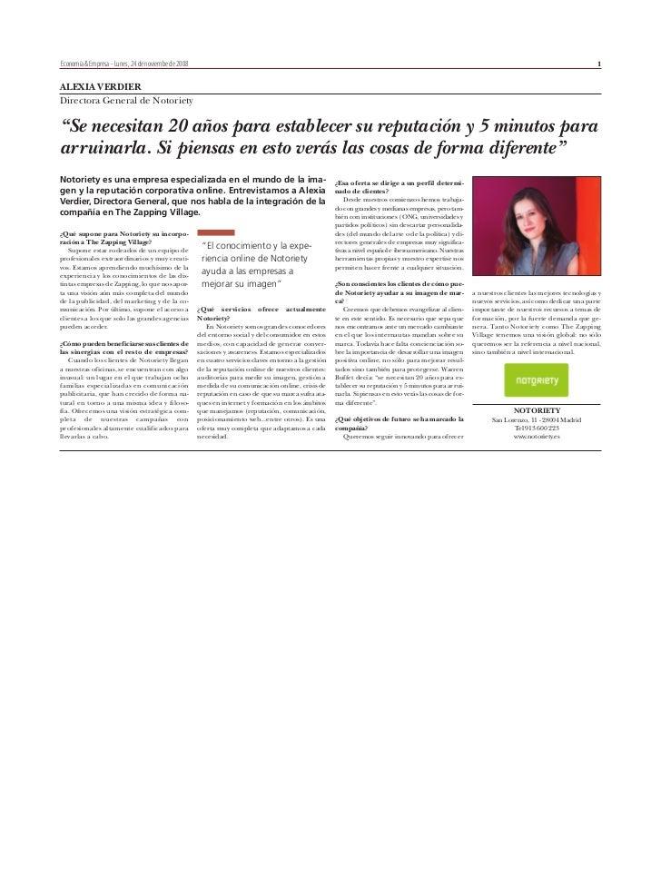 Entrevista a Alexia Verdier, Directora General de Notoriety