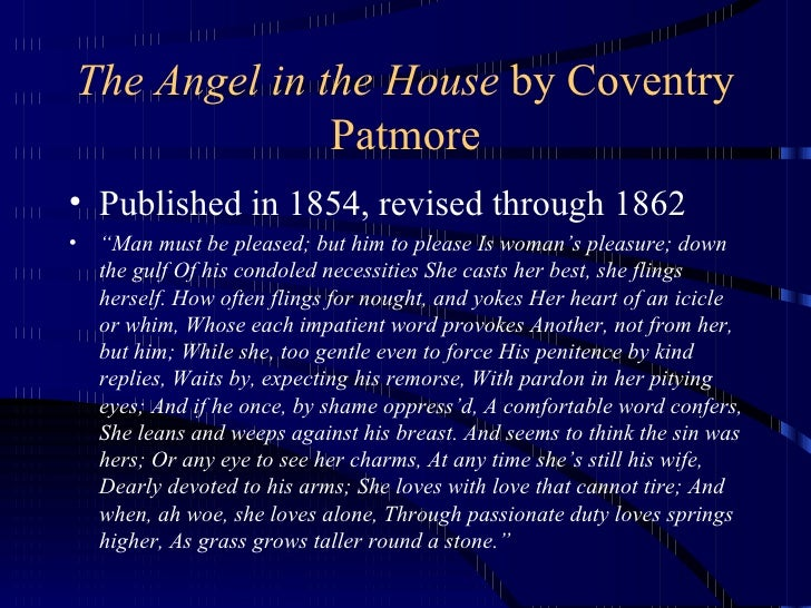Coventry Patmore the angel in the house