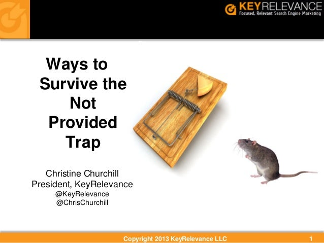 Ways to Survive Google's Not Provided Keyword Trap By Christine Churchill, KeyRelevance