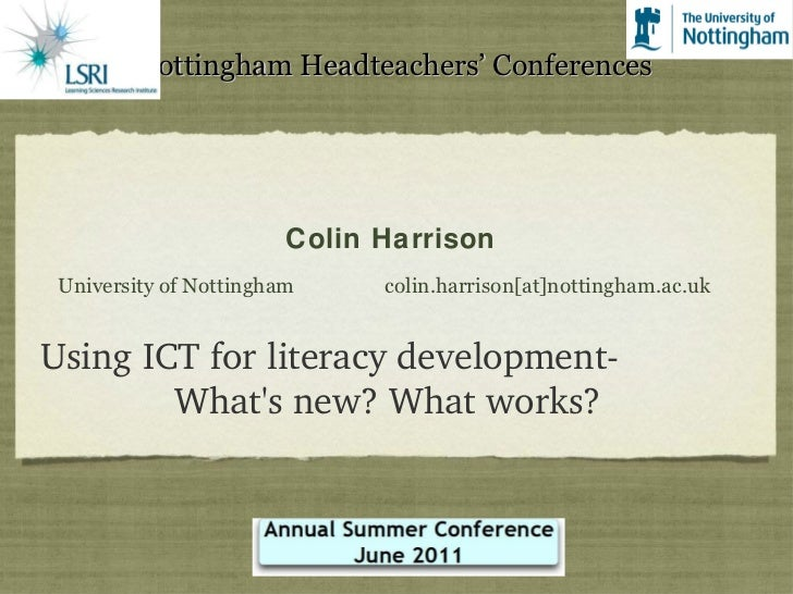 ICT for Literacy Development - What's New? What works?