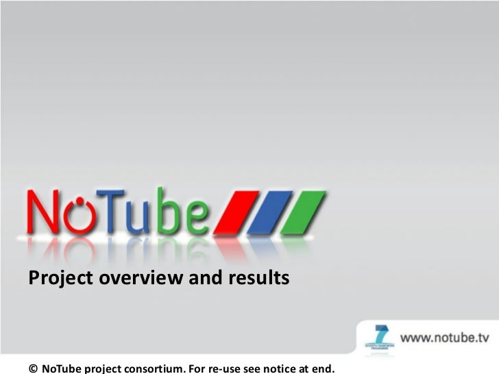 NoTube project results. Bringing TV and Web together.