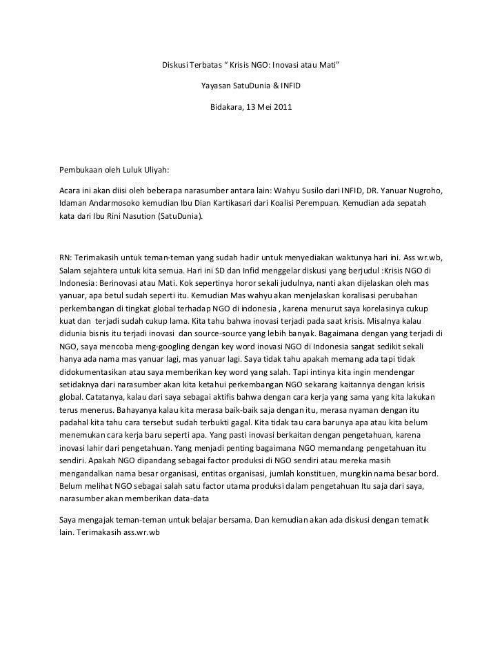 Notulensi sd diskusi krisis ngo, 13052011