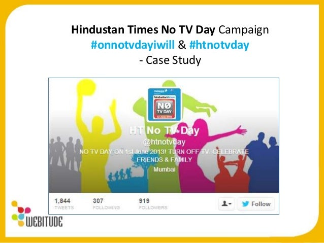 Social Media Case Study: HT No TV Day Twitter Contest