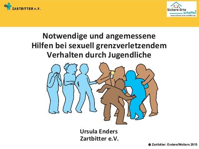 © Zartbitter: Enders/Wolters 2015 Notwendige und angemessene Hilfen bei sexuell grenzverletzendem Verhalten durch Jugendli...