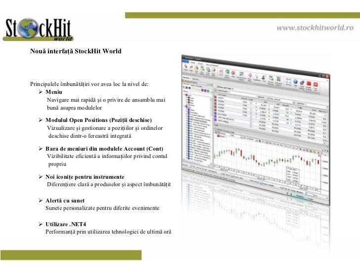 Noua interfata StockHit World