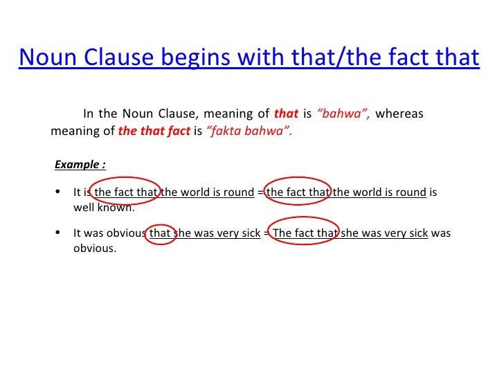 Noun Clause