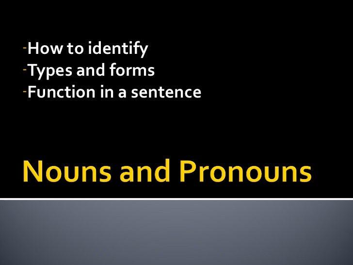 Nouns pronouns