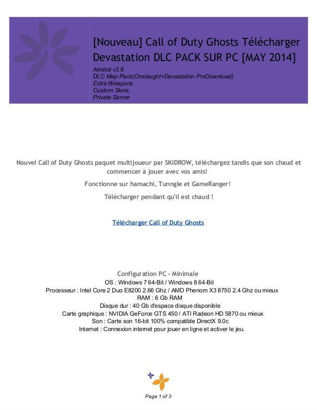 [Nouveau] Call of Duty Ghosts Télécharger Devastation DLC PACK SUR PC [MAY 2014] Aimbotv3.6 DLCMapPack(Onslaught+...