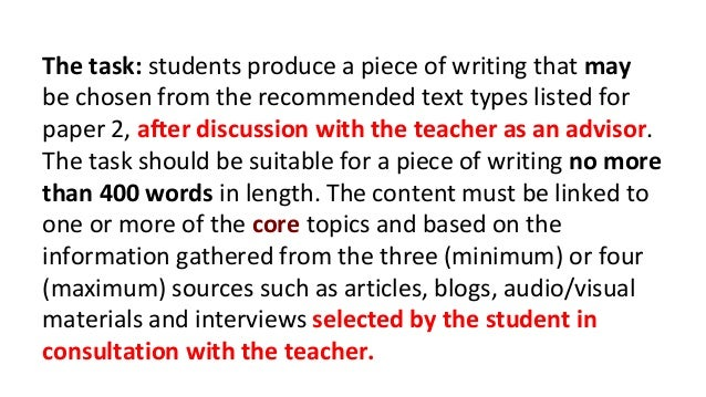 I need help with my English Written Task.Im doing the task:set of instruc./guidelines.What shouldit look like?