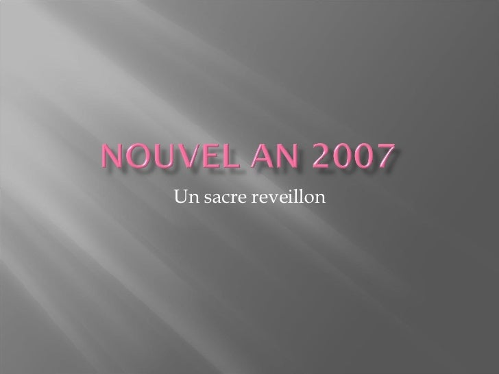 nouvel an 2007