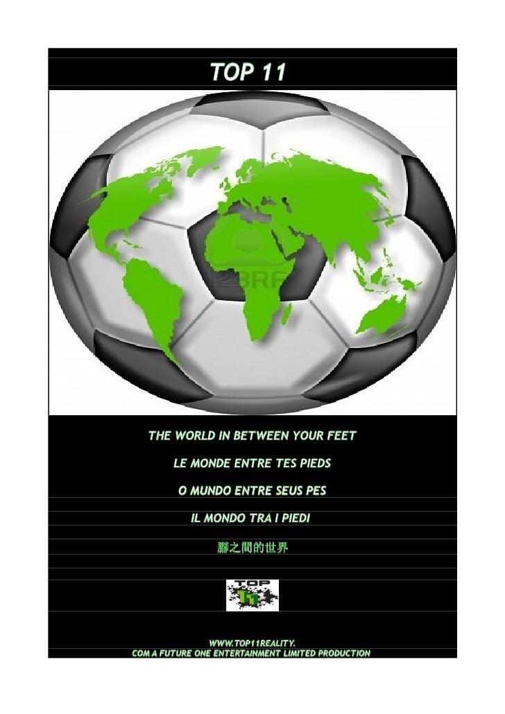 TOP 11   THE WORLD IN BETWEEN YOUR FEET        LE MONDE ENTRE TES PIEDS         O MUNDO ENTRE SEUS PES            IL MONDO...