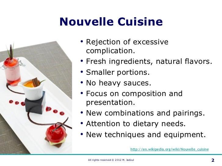 Nouvelle cuisine 2012 for Nouvelle cuisine