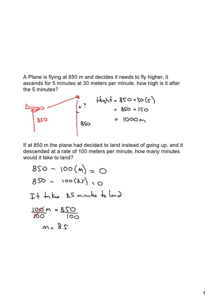 Nov. 6 Word Problems Test Review
