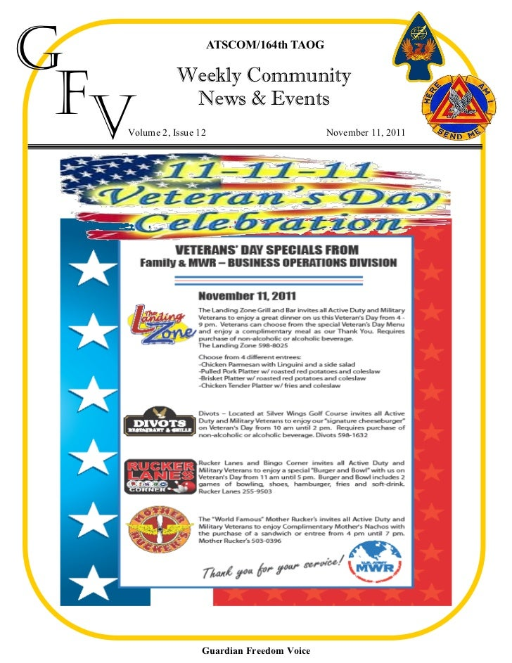 G                      ATSCOM/164th TAOG Fv             Weekly Community              News & Events  Volume 2, Issue 12   ...
