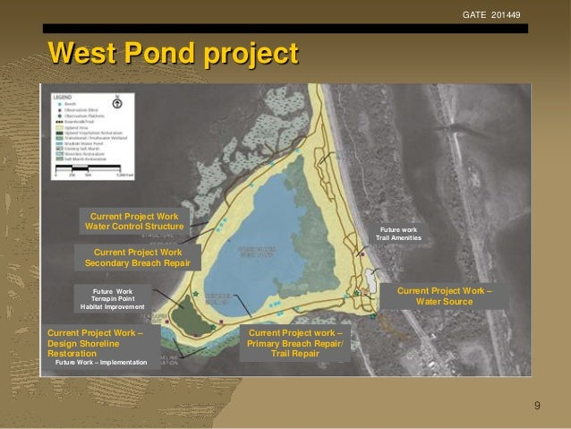 West Pond project GATE 201449 9 Current Project Work Water Control Structure Current Project Work Secondary Breach Repair ...