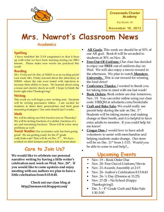 Nov  18 newsletter