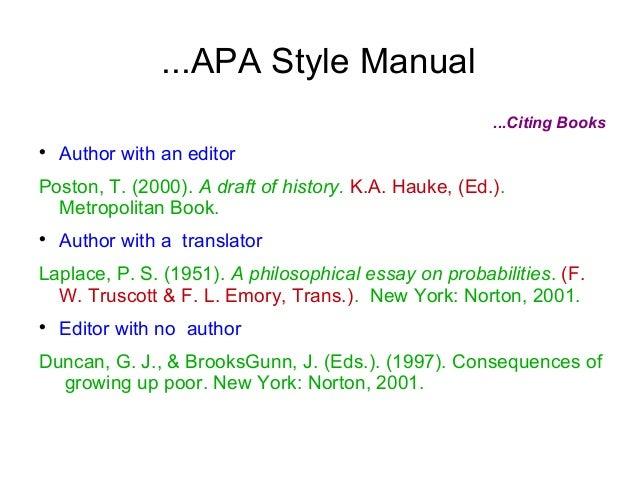 essay citing books