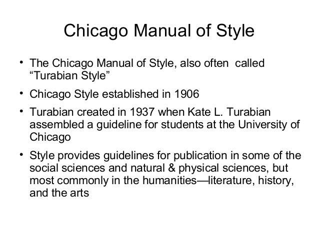 Chicago Manual Citation Dissertation