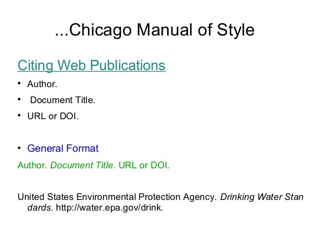 chicago style of essay writing