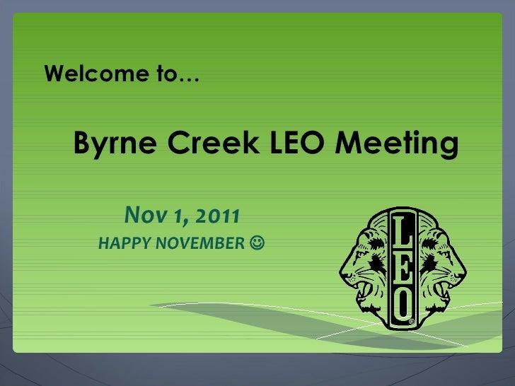 Nov 1 leo meeting powerpoint