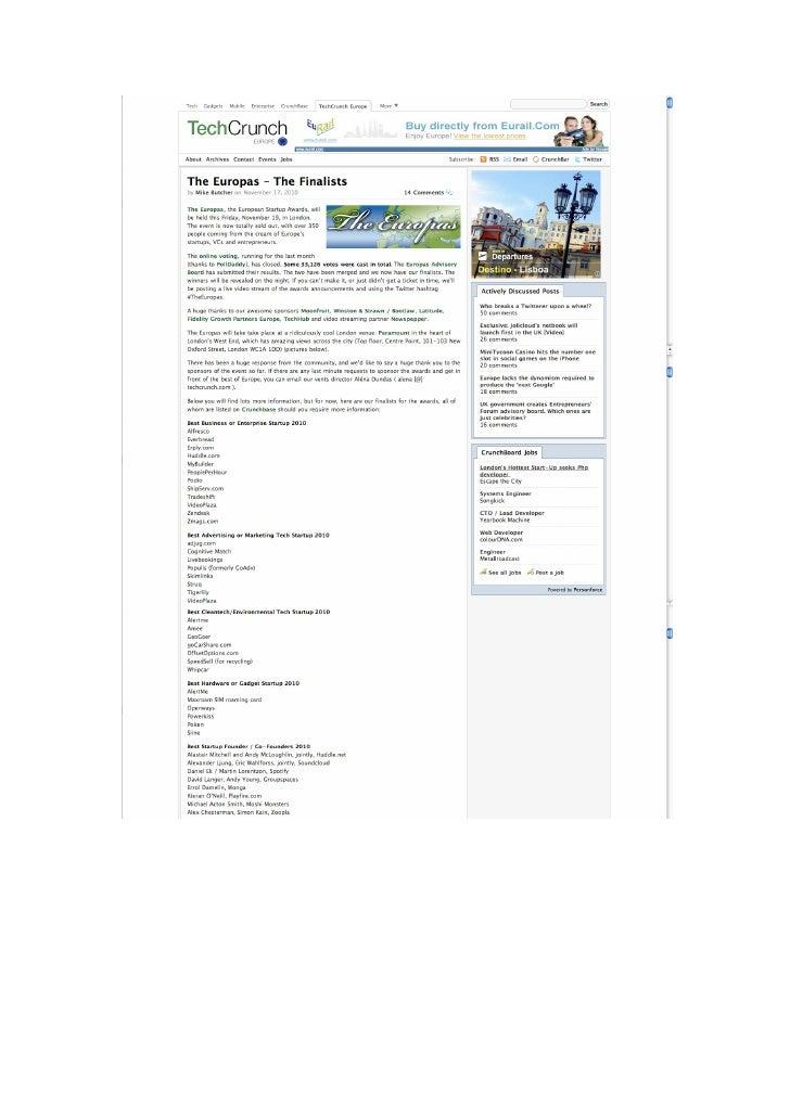 Okuri Ventures & Tetuan Valley - Menciones en medios Nov2010