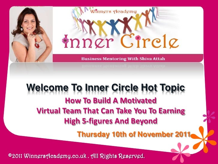 Welcome To Inner Circle Hot Topic                   How To Build A Motivated          Virtual Team That Can Take You To Ea...