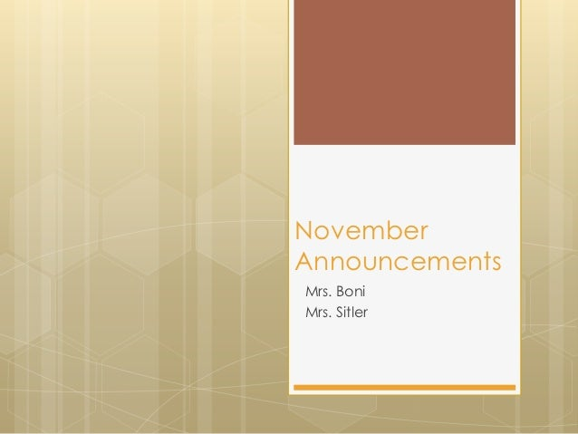 Nov 2012 anncts