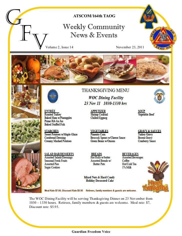 G                               ATSCOM/164th TAOG Fv                      Weekly Community                       News & Ev...
