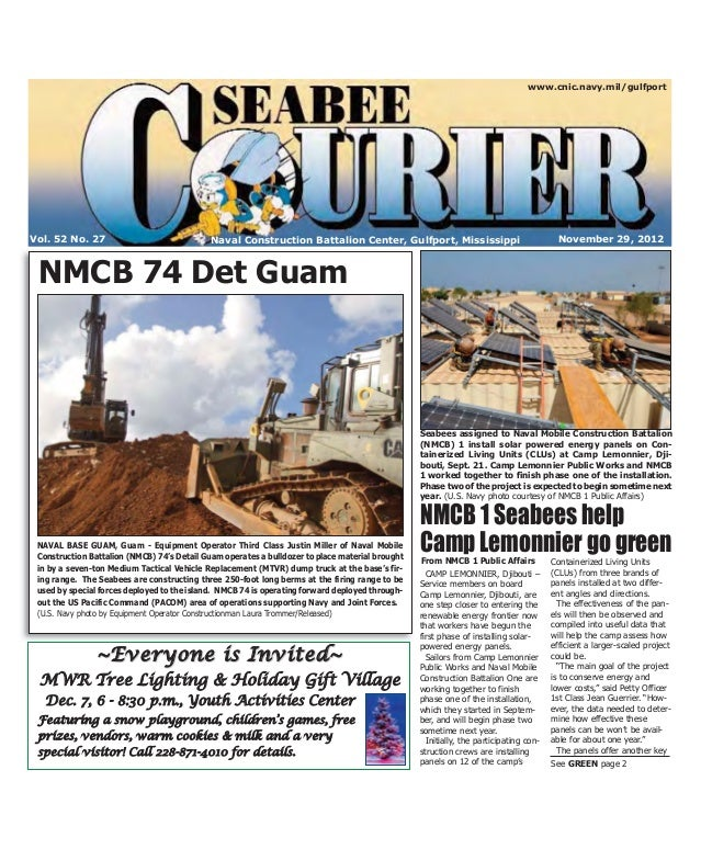 Seabee Courier Nov. 29, 2012
