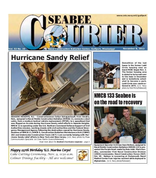 Seabee Courier Nov. 8, 2012