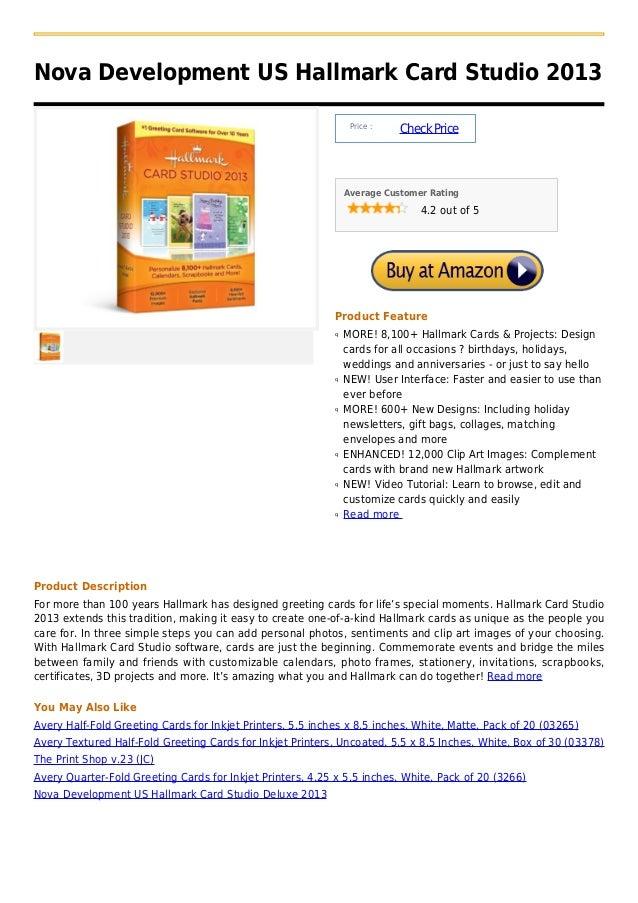 Nova Development US Hallmark Card Studio 2013                                                                 Price :     ...