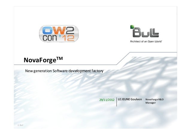 NovaForge: new generation software development factory, OW2con'12, Paris