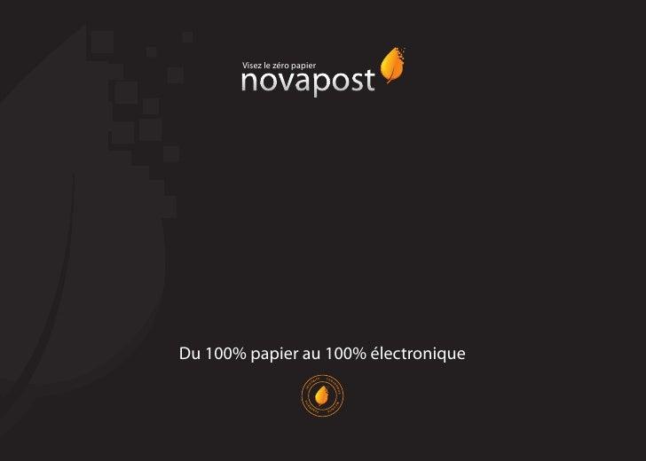 Visez le zéro papier     Du 100% papier au 100% électronique                                            CON               ...