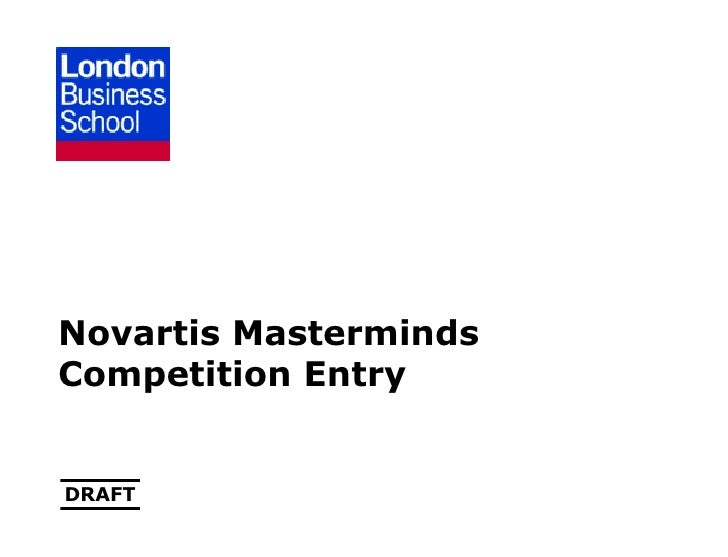 Novartis Masterminds Competition Entry