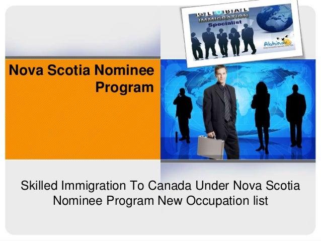 Nova Scotia Nominee Program  Skilled Immigration To Canada Under Nova Scotia Nominee Program New Occupation list