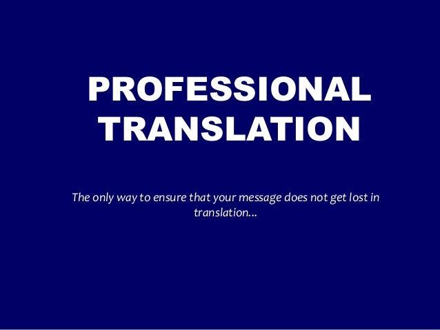 Professional Translation