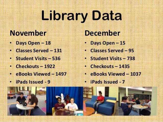 November & December 2013 Library Statistics