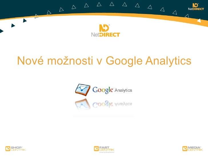 Nové možnosti v Google Analytics