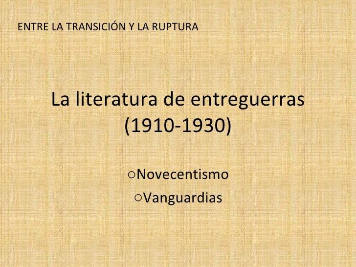 Novecentismo Vanguardias