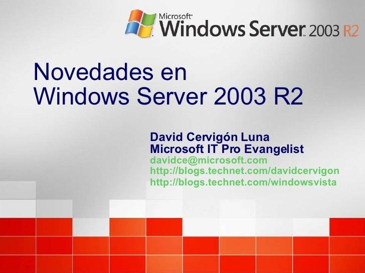 Novedades En Windows Server 2003 R2