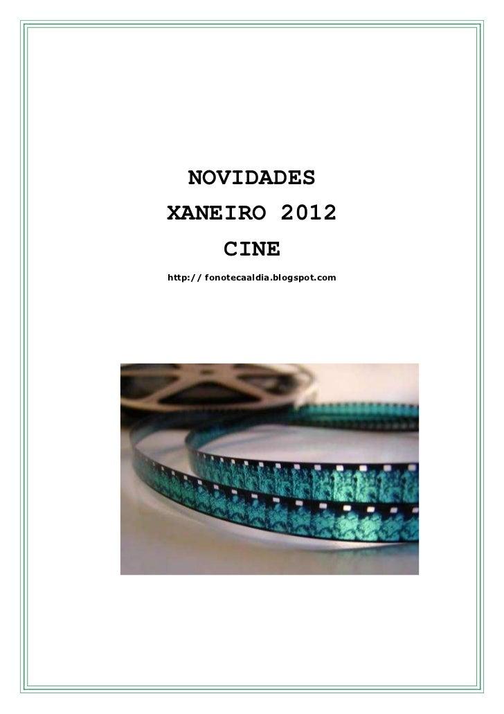Novedades  cine  ene  - 2012