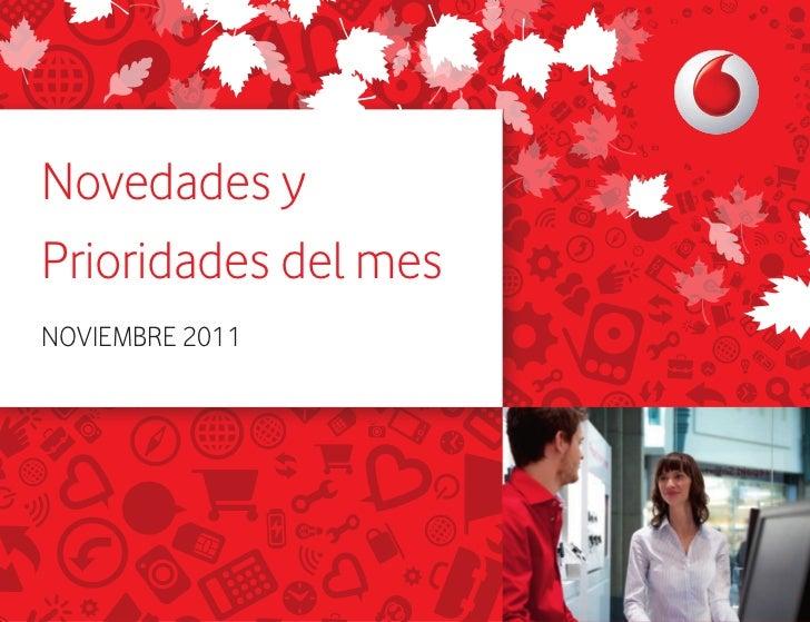 Novedades yPrioridades del mesNOVIEMBRE 2011V.01