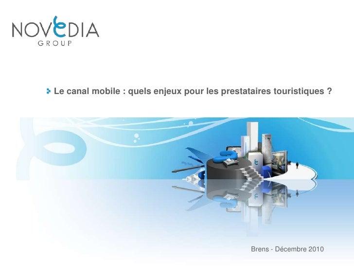 Le canal mobile : quels enjeux pour les prestataires touristiques ?<br />Brens - Décembre 2010<br />