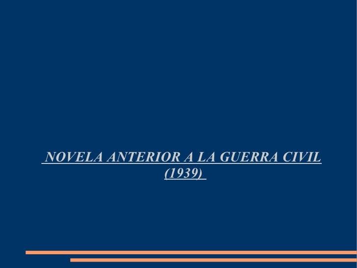 Novela Anterior A La Guerra Civil (Gerard Melis)
