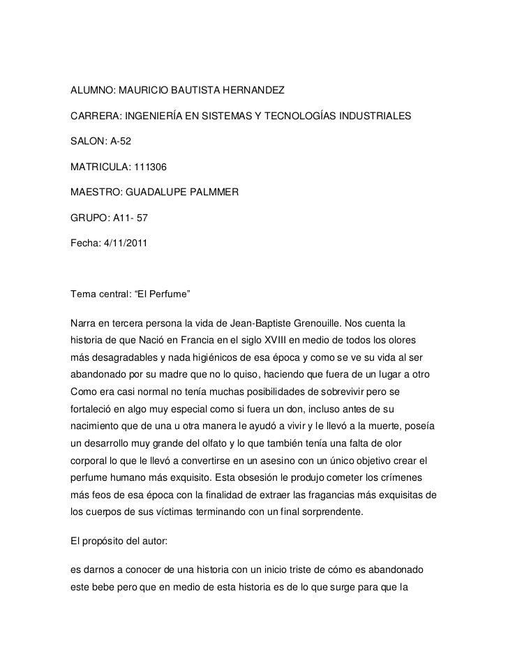 ALUMNO: MAURICIO BAUTISTA HERNANDEZCARRERA: INGENIERÍA EN SISTEMAS Y TECNOLOGÍAS INDUSTRIALESSALON: A-52MATRICULA: 111306M...