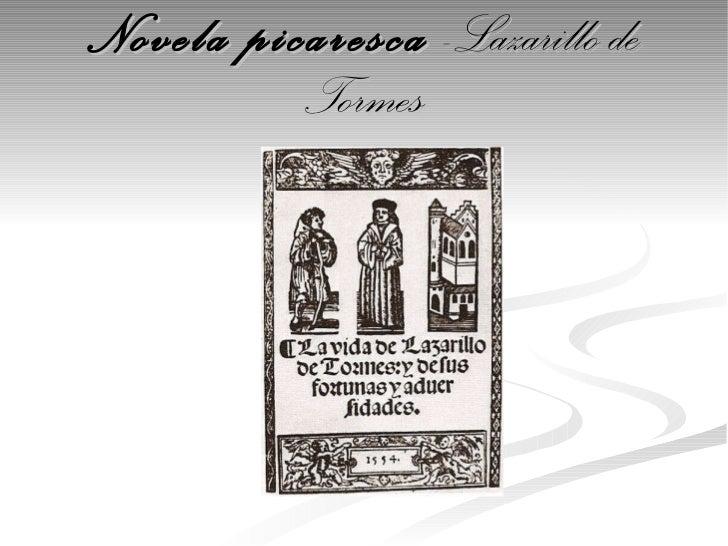 Novela picaresca  -Lazarillo de Tormes