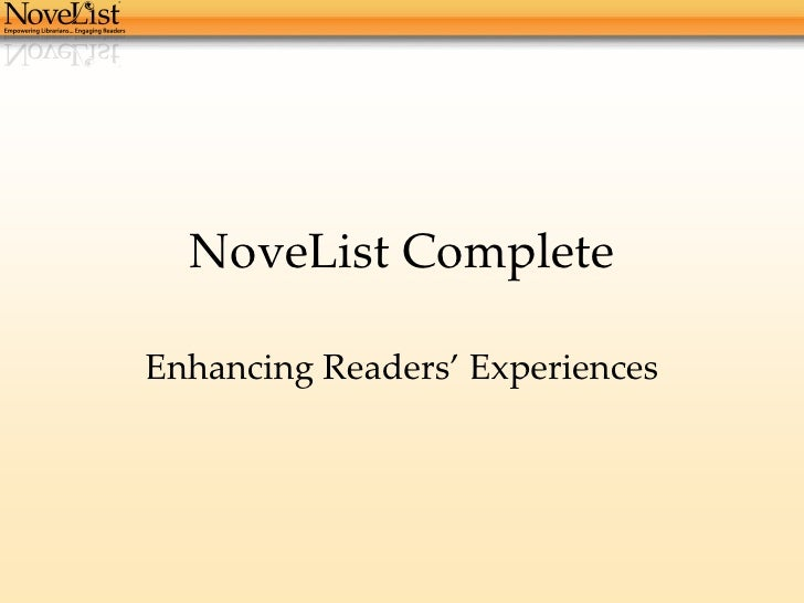 What is NoveList Complete?