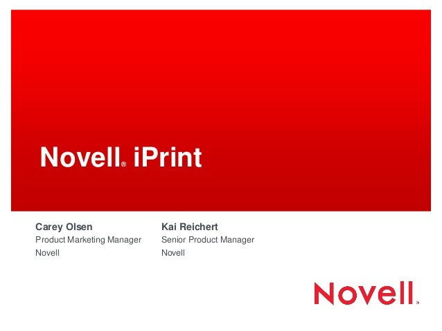 GWAVACon 2013: Novell iPrint