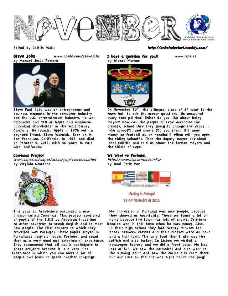 November 2011 Newsletter